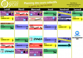 Planning convisport octobre 20
