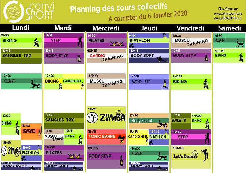 Planning janvier 2020